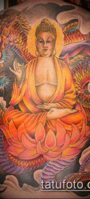 тату буддийские №459 – прикольный вариант рисунка, который хорошо можно использовать для преобразования и нанесения как буддийские тату обереги