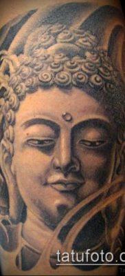 тату буддийские №890 – прикольный вариант рисунка, который удачно можно использовать для преобразования и нанесения как тату буддийская мандала