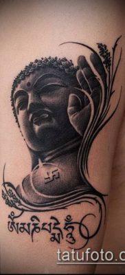 тату буддийские №853 – уникальный вариант рисунка, который успешно можно использовать для доработки и нанесения как тату буддийских монахов