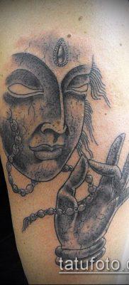 тату буддийские №424 – классный вариант рисунка, который хорошо можно использовать для переделки и нанесения как тату буддийский узел