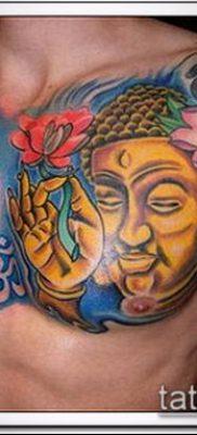 тату буддийские №347 – интересный вариант рисунка, который хорошо можно использовать для переделки и нанесения как тату в буддийском стиле