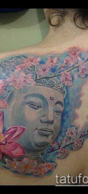 тату буддийские №766 – интересный вариант рисунка, который хорошо можно использовать для преобразования и нанесения как тату буддийских монахов