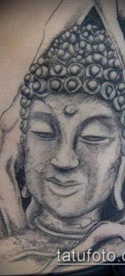 тату буддийские №734 – интересный вариант рисунка, который хорошо можно использовать для переделки и нанесения как буддийские тату обереги