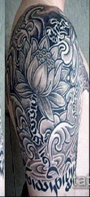 тату буддийские №914 – прикольный вариант рисунка, который удачно можно использовать для доработки и нанесения как тату в буддийском стиле