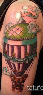 фото тату воздушный шар (Balloon tattoo) (значение) – пример рисунка – 001 tatufoto.com