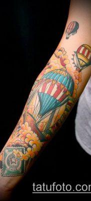 фото тату воздушный шар (Balloon tattoo) (значение) – пример рисунка – 227 tatufoto.com