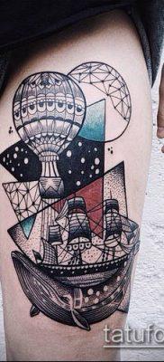 фото тату воздушный шар (Balloon tattoo) (значение) – пример рисунка – 232 tatufoto.com