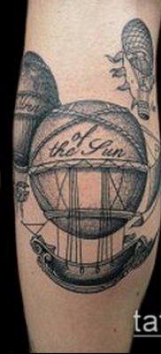 фото тату воздушный шар (Balloon tattoo) (значение) – пример рисунка – 240 tatufoto.com