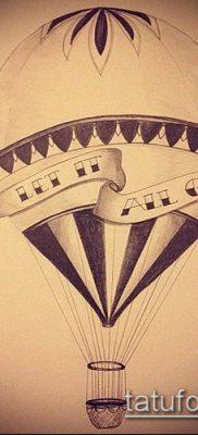 фото тату воздушный шар (Balloon tattoo) (значение) – пример рисунка – 247 tatufoto.com