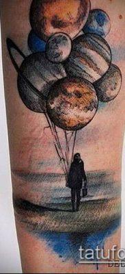 фото тату воздушный шар (Balloon tattoo) (значение) – пример рисунка – 248 tatufoto.com