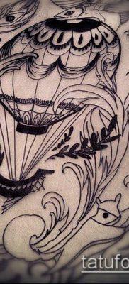 фото тату воздушный шар (Balloon tattoo) (значение) – пример рисунка – 250 tatufoto.com