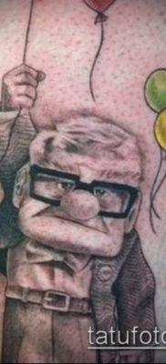 фото тату воздушный шар (Balloon tattoo) (значение) – пример рисунка – 251 tatufoto.com