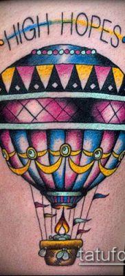 фото тату воздушный шар (Balloon tattoo) (значение) – пример рисунка – 274 tatufoto.com