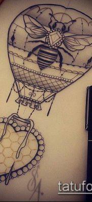 фото тату воздушный шар (Balloon tattoo) (значение) – пример рисунка – 276 tatufoto.com