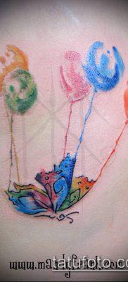фото тату воздушный шар (Balloon tattoo) (значение) – пример рисунка – 283 tatufoto.com