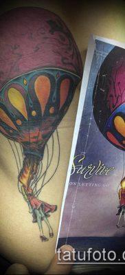 фото тату воздушный шар (Balloon tattoo) (значение) – пример рисунка – 292 tatufoto.com