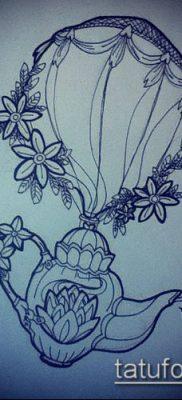фото тату воздушный шар (Balloon tattoo) (значение) – пример рисунка – 296 tatufoto.com