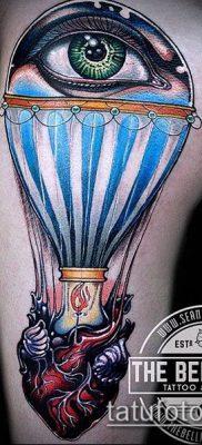 фото тату воздушный шар (Balloon tattoo) (значение) – пример рисунка – 297 tatufoto.com