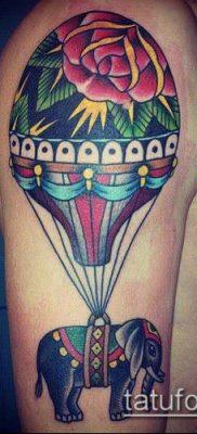 фото тату воздушный шар (Balloon tattoo) (значение) – пример рисунка – 300 tatufoto.com