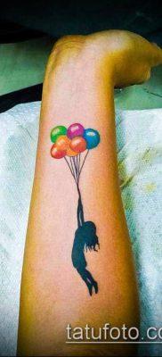 фото тату воздушный шар (Balloon tattoo) (значение) – пример рисунка – 302 tatufoto.com