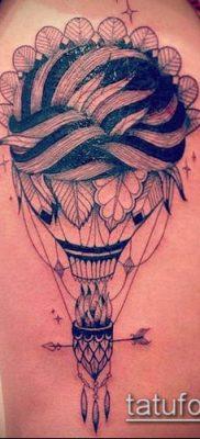 фото тату воздушный шар (Balloon tattoo) (значение) – пример рисунка – 308 tatufoto.com