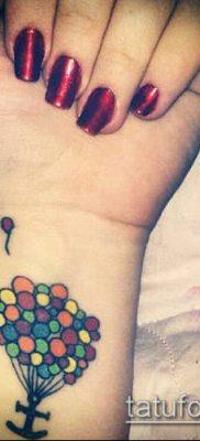 фото тату воздушный шар (Balloon tattoo) (значение) – пример рисунка – 309 tatufoto.com
