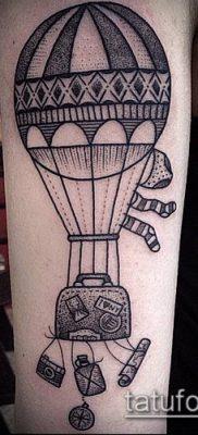 фото тату воздушный шар (Balloon tattoo) (значение) – пример рисунка – 314 tatufoto.com
