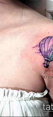 фото тату воздушный шар (Balloon tattoo) (значение) – пример рисунка – 318 tatufoto.com