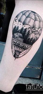 фото тату воздушный шар (Balloon tattoo) (значение) – пример рисунка – 325 tatufoto.com