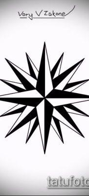 тату воровские звезды №425 – крутой вариант рисунка, который успешно можно использовать для переделки и нанесения как тату звёзды отрицалово