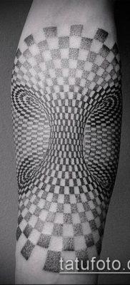 тату геометрические №310 – эксклюзивный вариант рисунка, который успешно можно использовать для доработки и нанесения как тату в геометрическом стиле