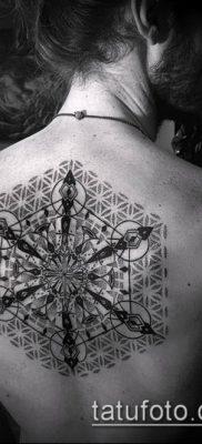 тату геометрические №805 – классный вариант рисунка, который хорошо можно использовать для переделки и нанесения как тату геометрические для девушек