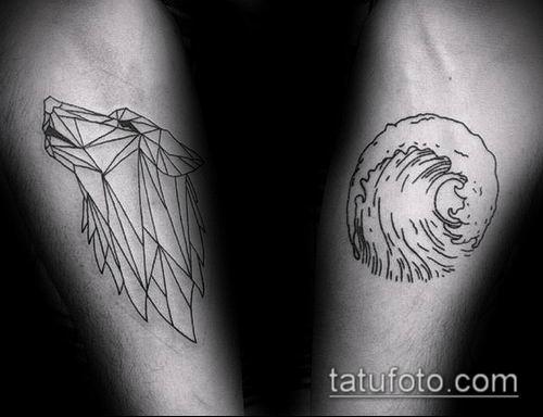 тату геометрические №590 - классный вариант рисунка, который удачно можно использовать для преобразования и нанесения как тату геометрические на руке
