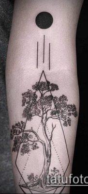 тату геометрические №264 – уникальный вариант рисунка, который легко можно использовать для переработки и нанесения как геометрические тату на шее