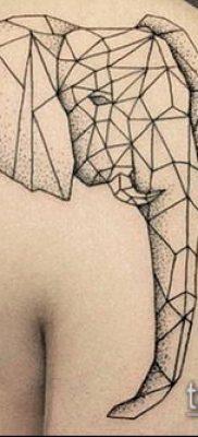 тату геометрические №261 – классный вариант рисунка, который легко можно использовать для переделки и нанесения как геометрические тату минимализм