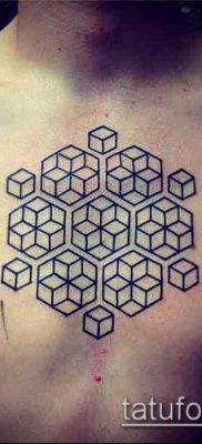 тату геометрические №604 – интересный вариант рисунка, который легко можно использовать для доработки и нанесения как геометрические тату на шее