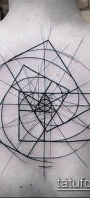 тату геометрические №831 – уникальный вариант рисунка, который успешно можно использовать для переработки и нанесения как тату геометрические узоры