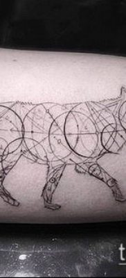 тату геометрические №12 – эксклюзивный вариант рисунка, который удачно можно использовать для переделки и нанесения как геометрические тату минимализм