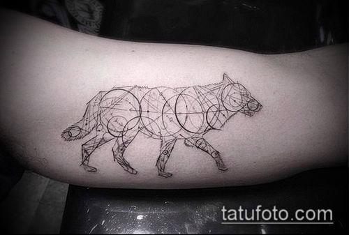 тату геометрические №12 - эксклюзивный вариант рисунка, который удачно можно использовать для переделки и нанесения как геометрические тату минимализм