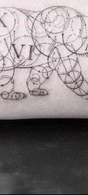 тату геометрические №411 – прикольный вариант рисунка, который хорошо можно использовать для переделки и нанесения как тату геометрические браслеты
