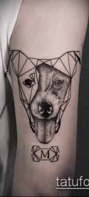 тату геометрические №99 – прикольный вариант рисунка, который успешно можно использовать для переделки и нанесения как тату геометрические для девушек