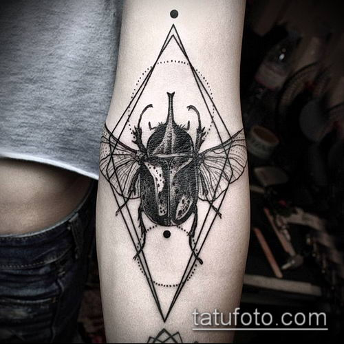 тату геометрические №544 - эксклюзивный вариант рисунка, который хорошо можно использовать для переделки и нанесения как тату геометрические для девушек