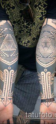 тату геометрические №83 – интересный вариант рисунка, который успешно можно использовать для переработки и нанесения как тату в геометрическом стиле