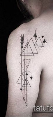 тату геометрические №396 – классный вариант рисунка, который удачно можно использовать для преобразования и нанесения как тату геометрические фигуры