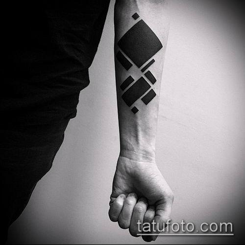 тату геометрические №457 - крутой вариант рисунка, который хорошо можно использовать для переработки и нанесения как тату геометрические фигуры