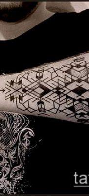 тату геометрические №857 – классный вариант рисунка, который легко можно использовать для доработки и нанесения как тату геометрические узоры