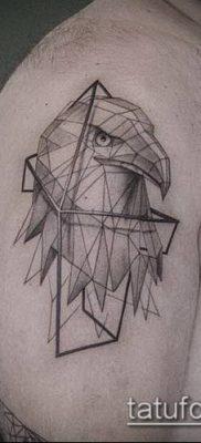 тату геометрические №718 – уникальный вариант рисунка, который легко можно использовать для переработки и нанесения как геометрические тату на предплечье