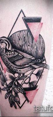 тату геометрические №335 – крутой вариант рисунка, который хорошо можно использовать для переделки и нанесения как тату геометрические браслеты