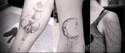тату геометрические №769 - уникальный вариант рисунка, который успешно можно использовать для преобразования и нанесения как геометрические тату минимализм