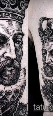 тату гравюра №158 – прикольный вариант рисунка, который успешно можно использовать для переделки и нанесения как тату гравюра рембрандта